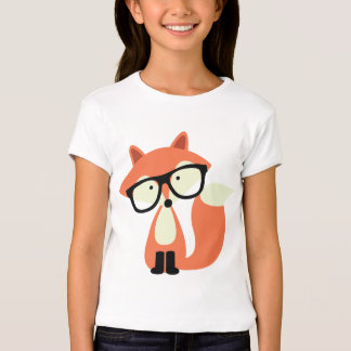 Niedlicher Hipsterroter Fox T-Shirts