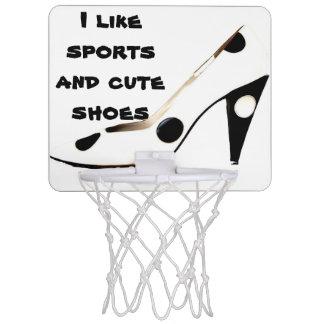 Niedlicher hohe Fersen-Schuh-Frau-Athlet Mini Basketball Netz