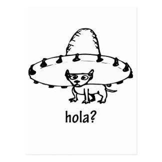 Niedlicher Hola Chihuahua-Entwurf Postkarte