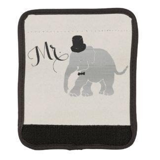 Niedlicher hübscher Vintager Herr Groom Elephant Gepräckgriffwickel