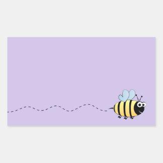 Niedlicher Hummelbienen-Cartoon Rechteckiger Aufkleber
