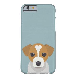 Niedlicher Hund auf cyan-blauem Hintergrund Barely There iPhone 6 Hülle