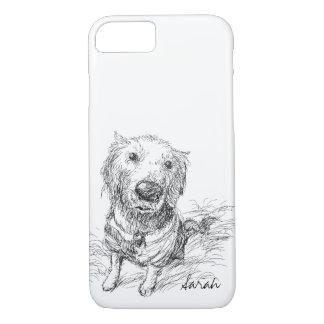 Niedlicher Hund, der Schwarz-weißen iPhone 8/7 Hülle