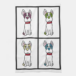 Niedlicher Hund Dishtowel - Boston-Terrier Geschirrtuch