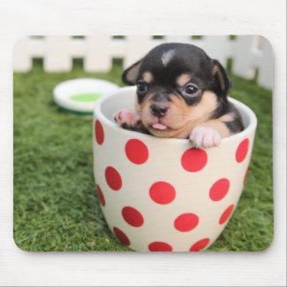 Niedlicher Hund in der Tasse für Kinder Mousepad