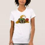 Niedlicher Hund mit lustigem T - Shirtentwurf der T Shirt