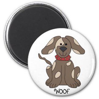 Niedlicher Hund Runder Magnet 5,7 Cm