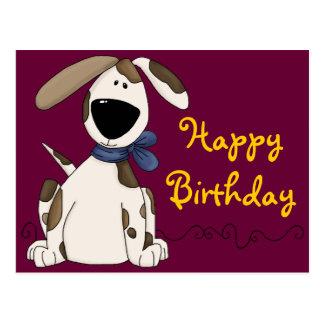 Niedlicher Hundegeburtstag Postkarte