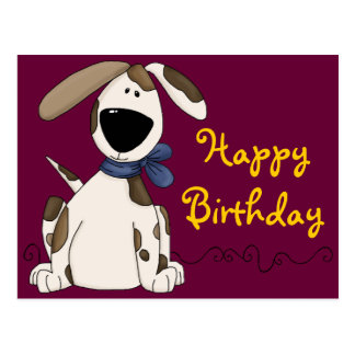 Niedlicher Hundegeburtstag Postkarten