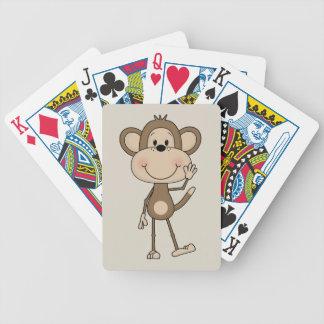 Niedlicher illustrierter Affe Bicycle Spielkarten