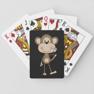 Niedlicher illustrierter Affe Spielkarten