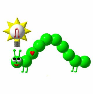Niedlicher Inchworm mit einer Idee! Freistehende Fotoskulptur