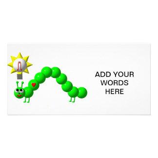 Niedlicher Inchworm mit einer Idee! Karte