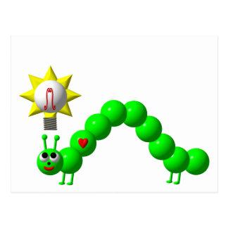 Niedlicher Inchworm mit einer Idee! Postkarte