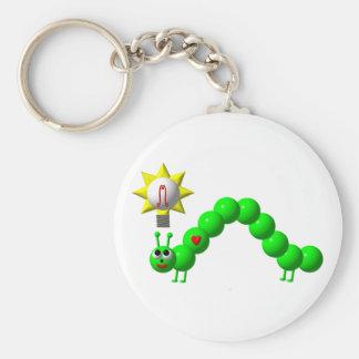 Niedlicher Inchworm mit einer Idee! Schlüsselanhänger