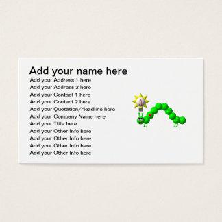 Niedlicher Inchworm mit einer Idee! Visitenkarte
