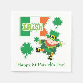 Niedlicher irischer Kobold Papierservietten