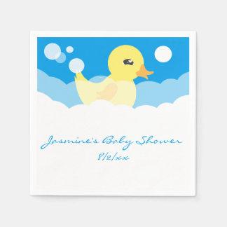 Niedlicher Jungen-Ducky Baby-Gummidusche Serviette