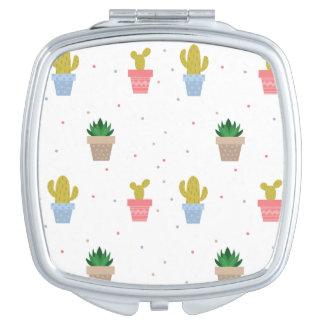 Niedlicher Kaktus Taschenspiegel