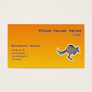 Niedlicher Känguru; Gelb-orange Visitenkarte