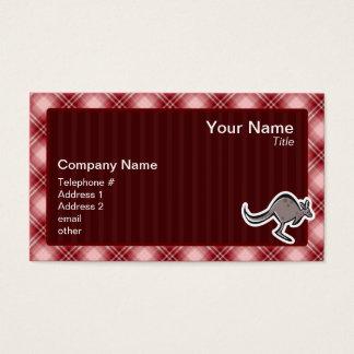 Niedlicher Känguru; Rotes kariertes Visitenkarte