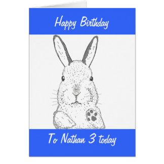 Niedlicher Kaninchen-Geburtstag Karte