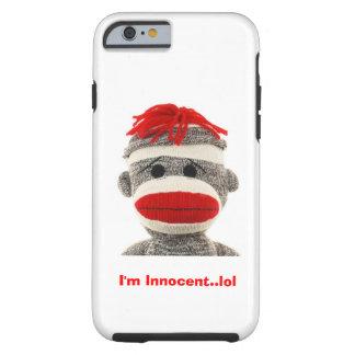 NIEDLICHER Kasten des Telefons 5 des Socken-Affe-I Tough iPhone 6 Hülle