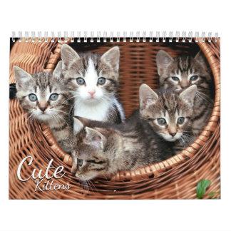 Niedlicher Kätzchen-Katzen-Haustier-Foto-Kalender Abreißkalender