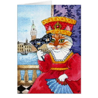 Niedlicher Katzen-Geburtstag oder irgendeine Karte