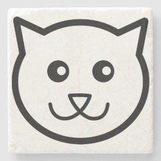 Niedlicher Katzengesichtskatze Steinuntersetzer