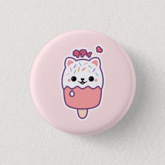 Niedlicher KatzePopsicle Runder Button 3,2 Cm