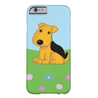 Niedlicher Kawaii Airedale-Hund in Feld iPhone Barely There iPhone 6 Hülle