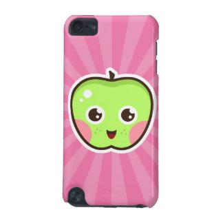 Niedlicher kawaii Apfel auf rosa Sonnendurchbruchi