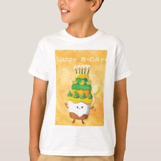 Niedlicher Kawaii Geburtstags-Kuchen T-Shirt