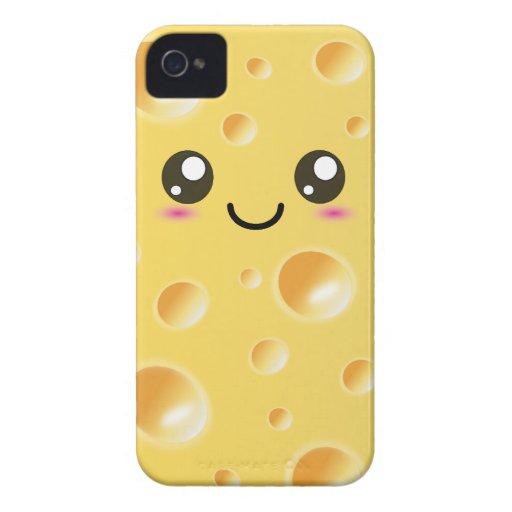 Niedlicher Kawaii glücklicher Käse iPhone 4 Case-Mate Hüllen