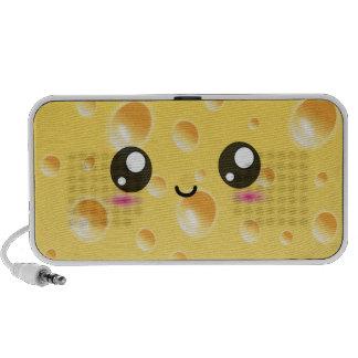 Niedlicher Kawaii glücklicher Käse iPhone Speaker