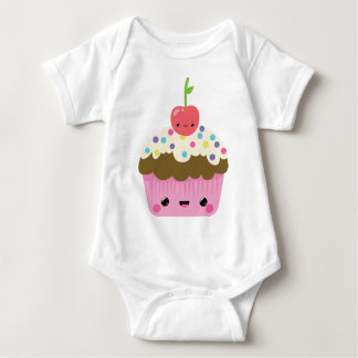 Niedlicher Kawaii kleiner Kuchen Baby Strampler