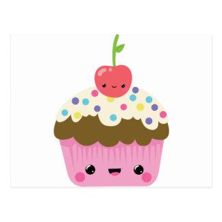 Niedlicher Kawaii kleiner Kuchen Postkarte