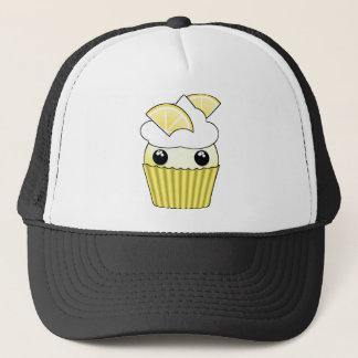 Niedlicher Kawaii Zitronen-kleiner Kuchen - durch Truckerkappe