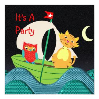 Niedlicher Kinderzimmer-Reim-Themed Party Quadratische 13,3 Cm Einladungskarte