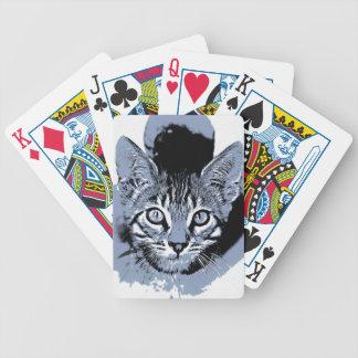 Niedlicher Kitty Bicycle Spielkarten