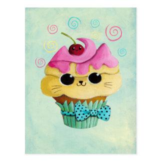 Niedlicher Kitty-kleiner Kuchen Postkarte