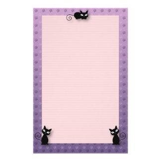 Niedlicher Kitty-Tatzen-Druck Briefpapier