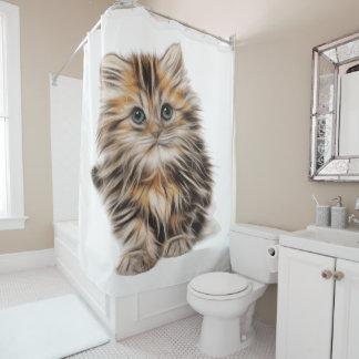 Niedlicher Kittykätzchenkatze Duschvorhang