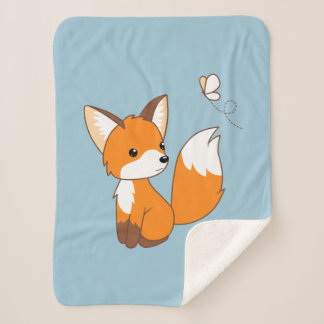 Niedlicher kleiner aufpassender Schmetterling Fox Sherpadecke
