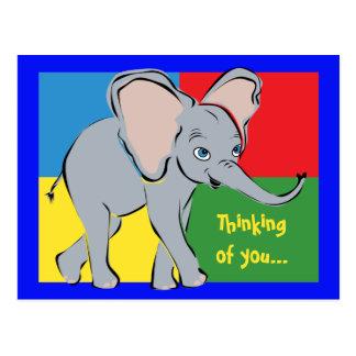Niedlicher kleiner Elefant Postkarte