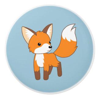 Niedlicher kleiner Fox Keramikknauf