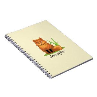 Niedlicher kleiner Fox zurück zu Schule Notizblock