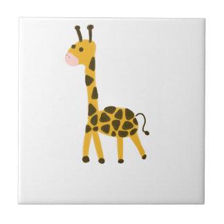 Niedlicher kleiner gelber Giraffen-Entwurf Keramikfliese