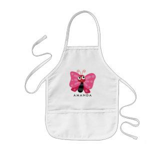 Niedlicher kleiner rosa Schmetterling Kinderschürze